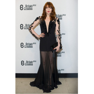 Florence Welch en Julien Macdonald-Britain Creates 2012- Fashion & Art Collusion VIP gala
