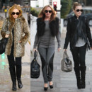 Kylie Minogue look hiver montage