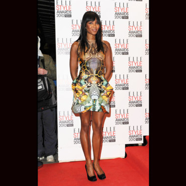 Look du jour Naomi Campbell en Alexander Mc Queen