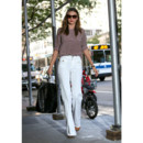 Miranda Kerr et son pantalon flare-New York