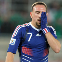 Photo : Franck Ribéry pendant la Coupe du Monde