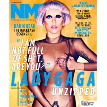 Lady Gaga couverture nme