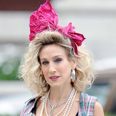 Sarah Jessica Parker sur le tournage en septembre 2009 de Sex and the City 2
