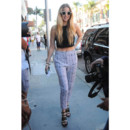 Whitney Port et son top cropped-Los Angeles