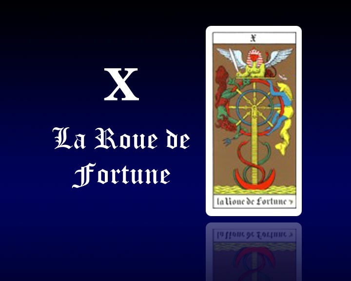interpr tation des cartes de tarot gratuit carte de tarot 10 la roue de fortune astro. Black Bedroom Furniture Sets. Home Design Ideas
