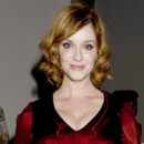 Christina Hendricks à la Fashion Week de New York le 8 septembre 2013