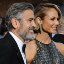 George Cloooney et Stacy Keibler aux Oscars 2013