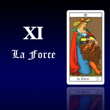 Carte de tarot 11 : La Force