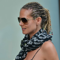 Photo : Heidi Klum et son beauty look rasta à New York