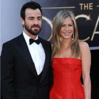 Jennifer Aniston et Justin Theroux aux Oscars 2013