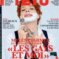 Photo : Mylène Farmer en couverture de Têtu