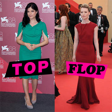 Top Flop Selma Blair vs Mia Wasikowska