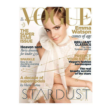 Harry Potter : Emma Watson en couverture de Vogue (décembre)