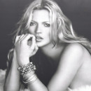Kate Moss sur le panneau publicitaire de David Yurman en 2006 à New York