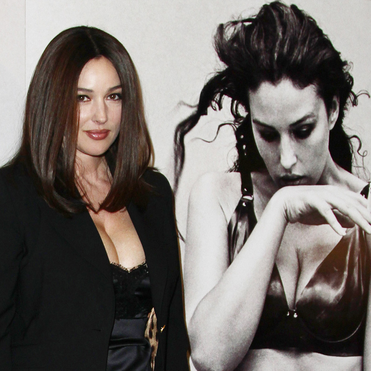 le look coiffure du jour monica bellucci la coupe au. Black Bedroom Furniture Sets. Home Design Ideas