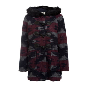 Duffle coat imprimé aztèque New Look, 85,99 euros