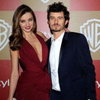 Miranda Kerr et Orlando Bloom à la fête post Golden Globes 2013