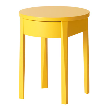 Table de chevet jaune conceptions de maison - Table de nuit scandinave ...