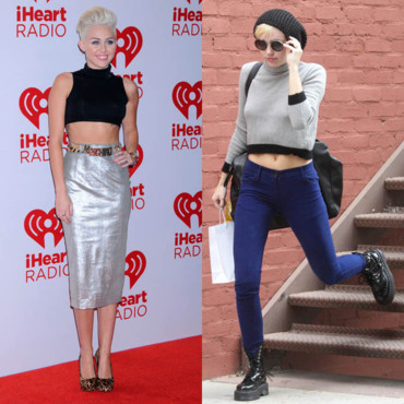 Miley Cyrus adidct de la tendance top cropped