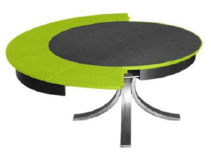 D coration la table circulaire qui s 39 allonge mais reste - Table de jardin qui reste dehors creteil ...