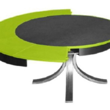 Table ronde extensible 10 personnes for Table ronde extensible design