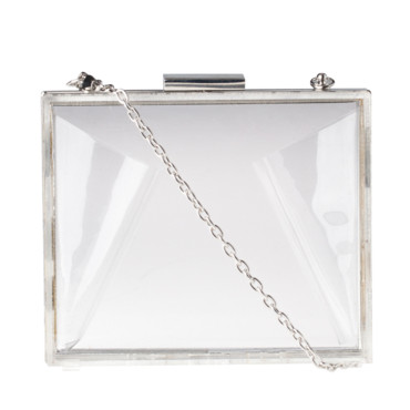 Sac clutch transparent Stradivarius à 29,95 euros