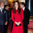 Kate Middleton lors d'une réception à la Royal Academy of Dramatic Arts à Londres le 17 février 2014