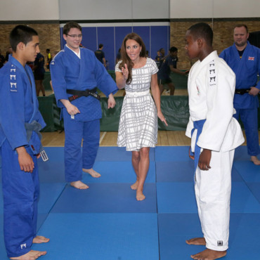Kate Middleton sur le tatami
