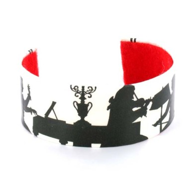 Bijoux de Noël : Bracelet Mozart on Monday (pièce unique) Tilly Bloom sur olivolga.com 25 euros