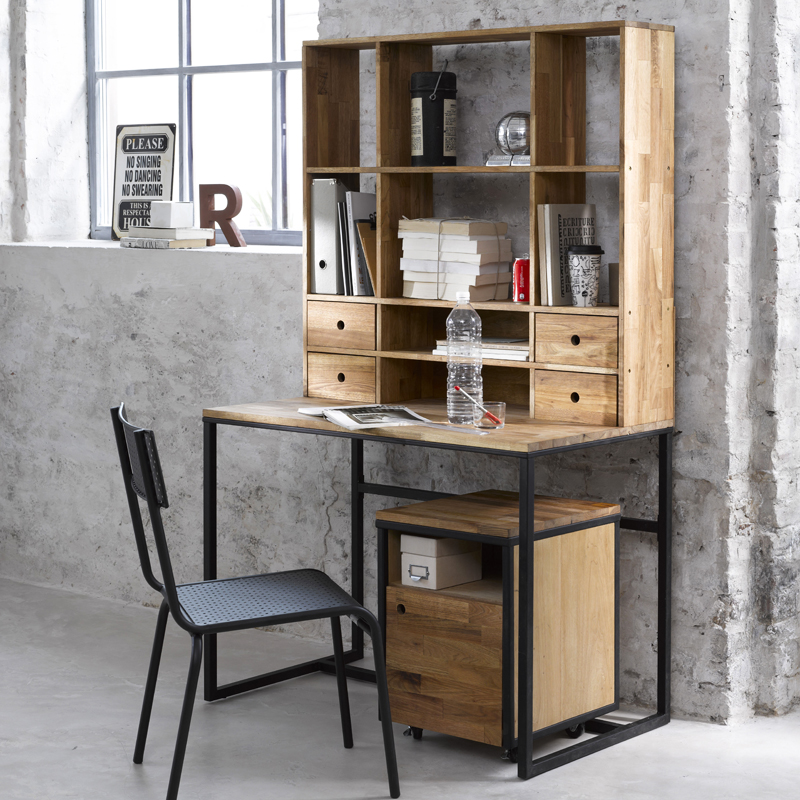 d co industrielle bureau. Black Bedroom Furniture Sets. Home Design Ideas