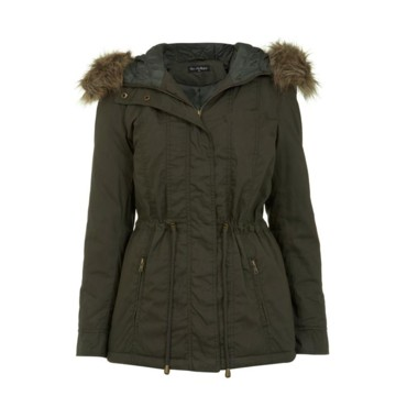 Parka courte Miss Selfridge, 91 euros