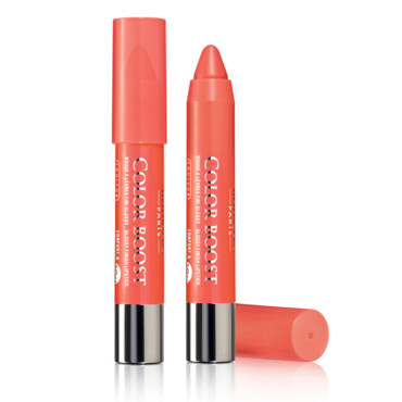 Crayon à lèvres Bourjois, Color Boost, Couleur Orange Punch, 11,50 euros.