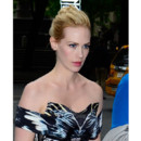 January Jones chignon New York mai 2012