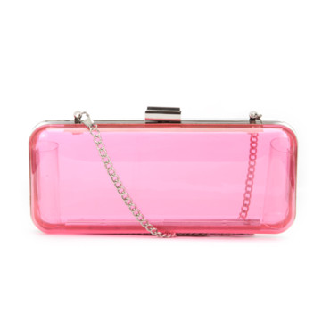 Sac clutch rose New Look à 14,99 euros