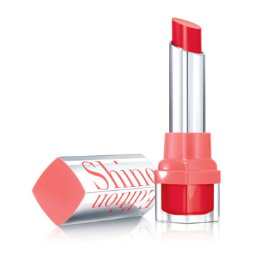 Rouge à Lèvres Bourjois, Shine Edition, Couleur n°21 Rouge Making-of, 11,95 euros.
