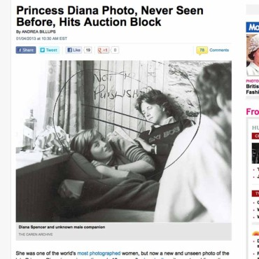 Capture écran du site Internet People/Diana Spencer à l'âge de 18 ou 19 ans.