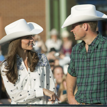 Kate et William et leur chapeau cow boy