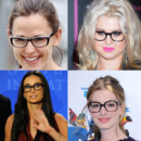 Les peoples en lunettes de vues  Hollywood : Anne Hathaway, Demi Moore, Kelly Osbourne et Jennifer Garner. 