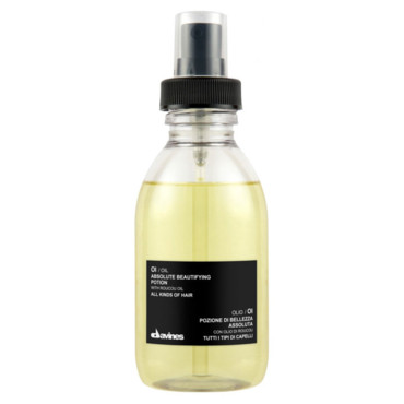 OI/Oil Absolute Beautifying Potion à l'huile de roucou, Davines (150ml, 33€)
