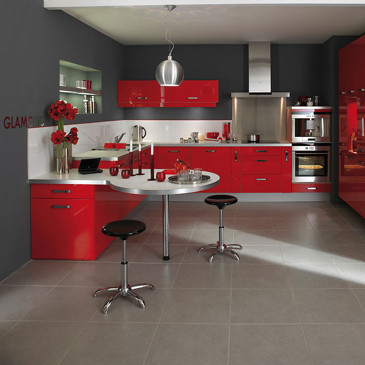 cuisines lapeyre d couvrez les tendances cuisine 2011 cuisine twist rouge lapeyre d co. Black Bedroom Furniture Sets. Home Design Ideas