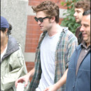 Robert Pattinson sur le tournage de Remember me