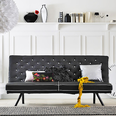 Banquette Chester Black & White Fly