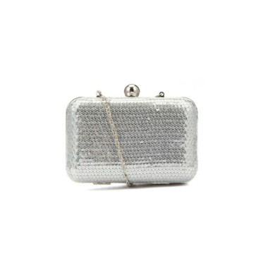 Sac clutch à sequins argentés New Look à 22,99 euros