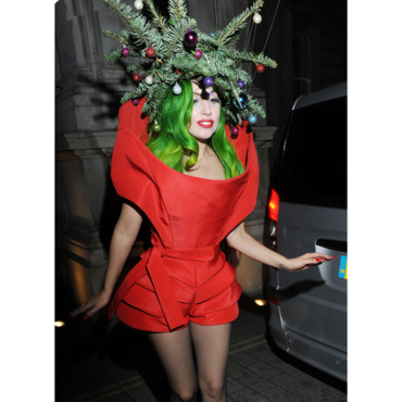 Lady Gaga après son concert au Jingle Bell Ball à Londres en décembre 2013