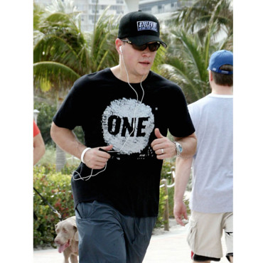 Matt Damon avec son iPod