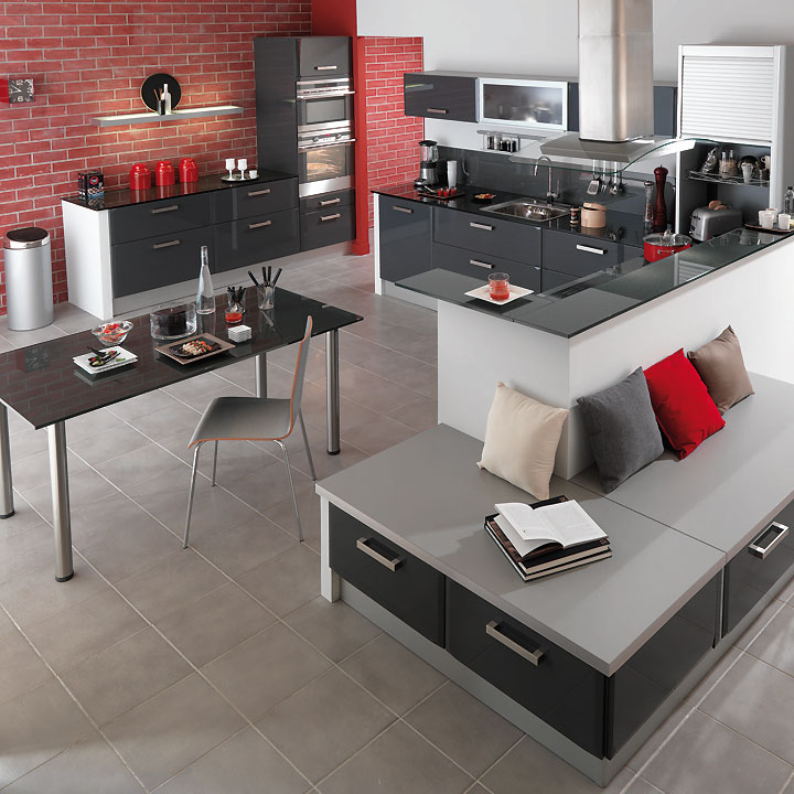 cuisines lapeyre d couvrez les tendances cuisine 2011 cuisine carat graphite lapeyre d co. Black Bedroom Furniture Sets. Home Design Ideas