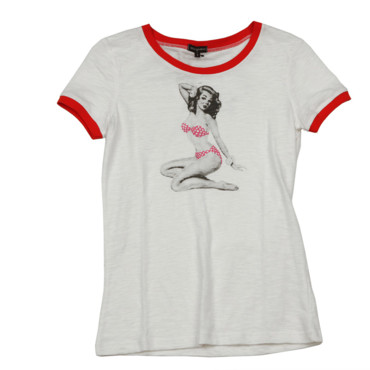 T-shirt imprimé pin up Best Mountain 21 euros