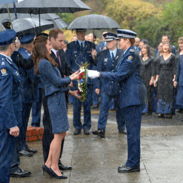 Kate Middleton et le prince William au Memorial de la 1ere guerre mondiale en Australie le 16 avril 2014