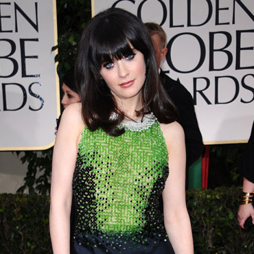 Zooey Deschanel frange Golden Globes 2012