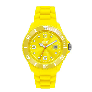 La montre jaune Ice Swatch 90 euros